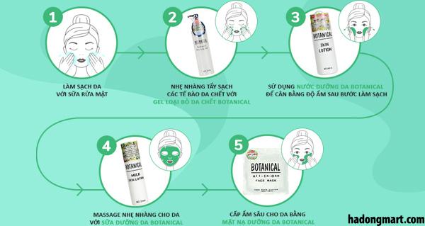 Cách sử dụng bộ dưỡng da Botanical