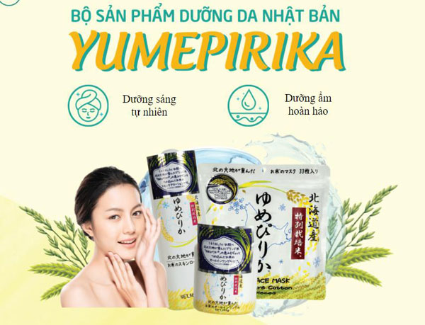 Bộ dưỡng da Yumepirika Nhật Bản