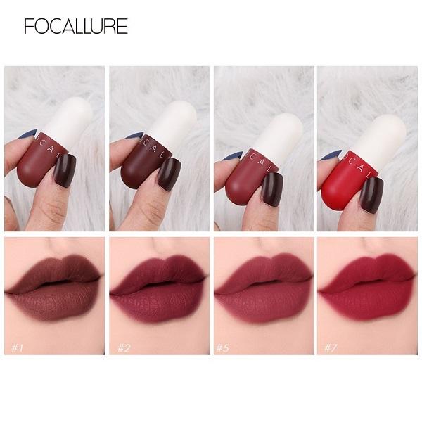 Son môi nhung mịn bền màu Focallure